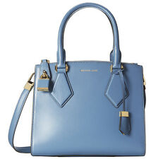 NWT Michael Kors Collection Cornflower Blue Leather Small Casey Satchel
