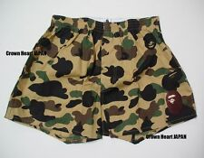 A BATHING APE 1st Camo Boxer Shorts Men's Underwear Auth BAPE JAPAN M Yellow