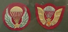 ARMY : SET OF 2 FRAMED SOUTH VIETNAMESE AIRBORNE PATCHES. (CCB)