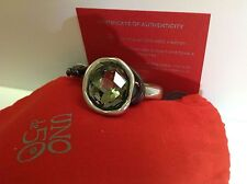 "NWT Uno de 50 Silvertone/Leather Green/Gray Swarovski Bracelet. ""Oh my Goodness"""