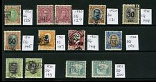 ICELAND 1920-1931 TOLLUR TAX + IMPORT USED FISCALLY...FINE...13 stamps