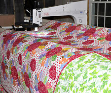 Longarm Machine Quilting SERVICES Table Runner 18 x 46 Batting & Shipping  FREE