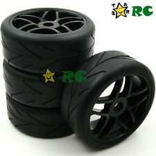 4pcs New RC 1/8 On Road Soft Tyres Tires & Hex 17mm Wheels Rims for 1/8 rc car
