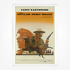 Vintage film poster - A4 - Clint Eastwood The Outlaw Josie Wales
