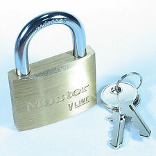 "Lock by Master 4150KA Keyed Alike $25 OR MORE FREE SHIPPING! 1⅞"" Wide Brass Body"