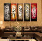 MODERN ABSTRACT HUGE WALL ART OIL PAINTING ON CANVAS: Musical 5PC (NO FRAME)
