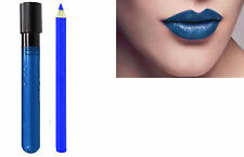 2pc Denim Blue Matt Kiss-Proof Lipstick Lip Colour Wand Set with Lip Liner