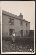 Yorkshire Postcard - Lady With Baby Stood Outside Wharton House, Leeds A5004
