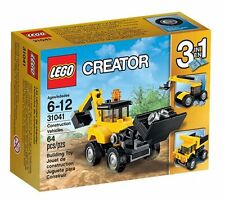 LEGO Creator 3 in 1 Construction Vehicles 31041 Brand New Sealed Set 64 Pcs