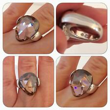 Genuine Swarovski Helios Rosaline Moonlight Pink Ring Size 52