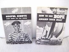 Lot of 2 1946 Useful Knots & 1950 How To Use Rope Aboard Your Boat by Plymouth