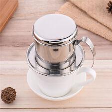 Stainless Steel Vietnam Vietnamese Coffee Filter Cup Drip Maker Infuser Handle N