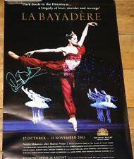 DARCEY BUSSELL LA BAYADERE SIGNED ROYAL BALLET POSTER UACC REGISTERED DEALERS