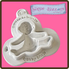 Katy Sue Designs SUGAR BUTTONS BABY Cake Crafting Mould CSB021 61mm x 49mm x 13m