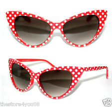 Cat Eye 50's Vintage Sunglasses Polka Dots red white Rockabilly Petticoat  Pinup
