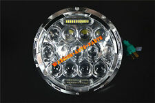 """7"""" Round 75W LED Headlight Replacement with DRL Low and High Beam Chrome 1 Piece"""