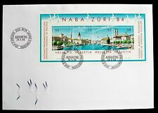 SWITZERLAND First Day Cover Mini Sheet NABA ZURI 84 STAMP EXHIBITION 24/05/1984