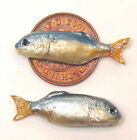 1:12 Scale 2 Loose Fish For A Dolls House Miniature Kitchen Or Shop Accessory H