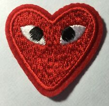 Play Comme Des Garcons  Heart Eyes Iron on / sew on patch