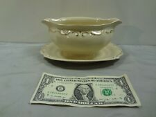 PT Tulowice Fine China Gravy Boat with attached Underplate; Has Gold Trim