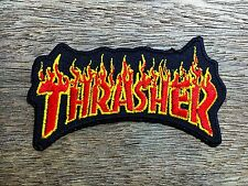 """""""New"""" THRASHER Embroidered Patch Iron on/sew Decorate Skateboard Sprots Extreme"""