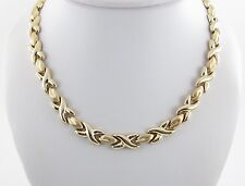 """14K Yellow Gold Hugs And Kisses Necklace 17""""  28.50 grams"""