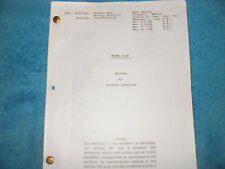 MIAMI VICE TV SCRIPT - DON JOHNSON - PHILLIP MICHAEL THOMAS - EDWARD JAMES OLMOS