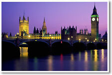 London, England - Big Ben - British UK English Europe Travel Print - NEW POSTER