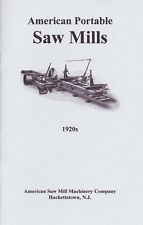 1920s American SAW MILL Machinery Co. Catalog -  NEW reprint