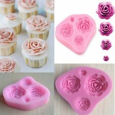Silicone 3D Rose Flower Fondant Cake Chocolate Mold Mould Modelling Decorating V