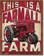 Farmall Farm Tractor Equipment  IH Distressed Retro Vintage Style Metal Tin Sign