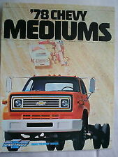 Chevrolet Mediums truck brochure 1978