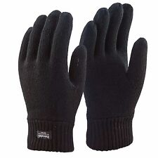 Mens Thermal Thinsulate Gloves Knitted Full Finger Cold Winter Weather Lined