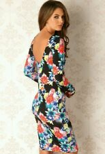 BNWT* LIPSY* 12 (UK),  BLUE FLORAL SLEEVED BODYCON, PENCIL