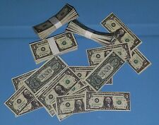 1/6 scale stacks & loose money. Lot of 60 $1 bills! For GI Joe 12 inch figures!