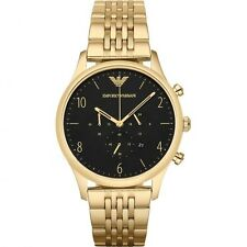 NEW STYLE RARE Emporio Armani Mens BETA Gold Tone Chronograph Watch - AR1893