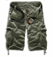 Mens Camo Cargo Sport Shorts Army Military Camouflage Casual Combat Trousers