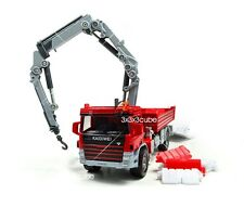 Red 1:50 Crane Truck Construction Vehicle Project Car Diecast Model By KaiDiWei