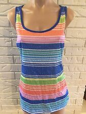 MAURICES WOMENS SEQUIN STRIPED DRESSY TANK TOP SZ M NWOT SUMMER