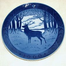 ROYAL COPENHAGEN Christmas PLATE - 1960 The Stag