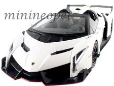 KYOSHO 09502W LAMBORGHINI VENENO ROADSTER 1/18 DIECAST MODEL CAR WHITE