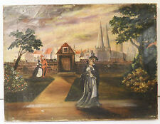 OIL ON CANVAS PAINTING JAMES ALLEN ST. JOHN - DATED 1889 - FAUST OPERA SCENE
