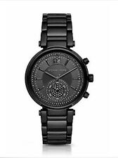 Michael Kors Ladies Sawyer Black Chrono Special Edition Glitz Dial Watch MK6297