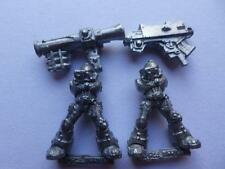 SPACE MARINE METAL TWO CLASSIC DEVASTATORS BOLTER & MISSILE LAUNCHER   9A
