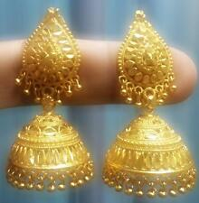 24k Gold Plated South Indian Traditional Earrings Jhumka Jewelry Jewelery Set