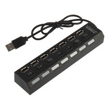 Mini Black 7Port USB 2.0 High Speed HUB ON/OFF Sharing Switch New 7@