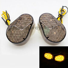 Black Motocycle Custom 15 LED Turn Signal Light For Kawasaki ZR7S 00-05 04 03 02