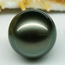 Huge 20mm Genuine Black South Sea Shell Pearl Round Half Drilled Beads 1pcs