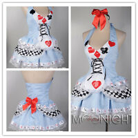 Women Alice In Wonderland Cosplay Costume Fancy Dress UK 6 8 10 12 14 16 18 20