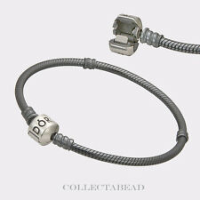 Authentic Pandora Sterling Silver Oxidized Bracelet Lock 7.1 590702OX